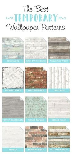 : Completely temporary & removable, these peel and stick wallpapers are perfect for apartments, rentals, and DIY home projects. Home Project rental Look Wallpaper, Peel And Stick Wallpaper, Pattern Wallpaper, Wallpaper Ideas, Temporary Wallpaper, Removable Wallpaper For Renters, Renters Wallpaper, Interior Design Advice, Home Design