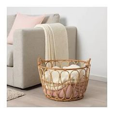 SNIDAD Basket - rattan - IKEA,Fashionable Blanket Storage Ideas One of the simplest methods to loosen up an area is by layering textures. Toss pillows with exciting details, throw . Ikea Basket, Rattan Basket, Ikea Laundry Basket, Lohals, Blanket Basket, Basket With Blankets, Blanket Storage, Rattan Furniture, Furniture Nyc