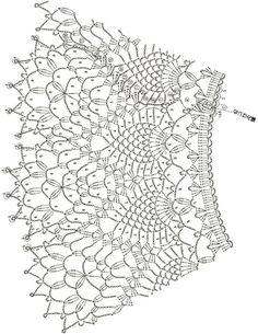 Fabulous Crochet a Little Black Crochet Dress Ideas. Georgeous Crochet a Little Black Crochet Dress Ideas. Crochet Collar Pattern, Col Crochet, Crochet Lace Collar, Gilet Crochet, Crochet Diagram, Crochet Blouse, Crochet Chart, Easy Crochet Patterns, Crochet Motif