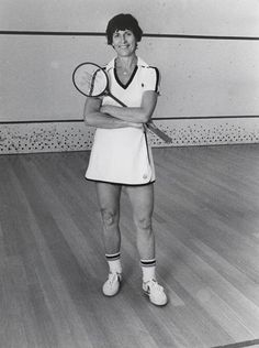 Heather McKay.  Best female squash player of all time - world champion for like forever.  Taught me how to play when I was seven - didn't realize at the time how lucky I was.
