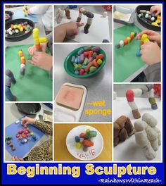 Beginning Sculpture in Preschool, Art Project for Building...my 2 1/2 year olds loved it.