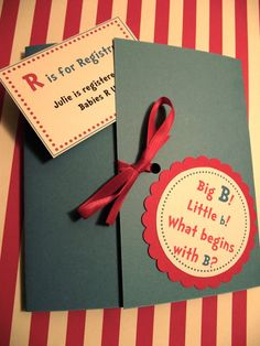 Super cute dr seuss style baby shower invitations. Can also be made for birthday parties!