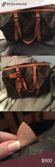 Authentic Louis Vuitton Sac Souple 35 Authentic Louis Vuitton. In really good condition. Leather has aged well. Clean interior & beautiful honey patina on handles. Date code is worn but reads TH 8909. Double zipper works well. Only selling because it's a little small for my needs. All offers considered. Ships next day. Louis Vuitton Bags Satchels