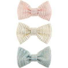 Monsoon 3X Tweed Sparkle Bow Clips (14 BAM) ❤ liked on Polyvore featuring accessories, hair accessories, bow hair clip, sparkly hair clips, hair clip accessories, barrette hair clips and sparkly hair accessories