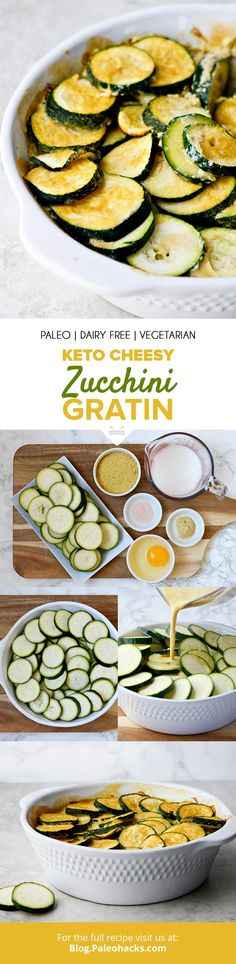 Pour this dairy-free cheesy sauce over tender zucchini for a keto au gratin with only six ingredients! Get the full recipe here: https://paleo.co/ketozucchinigratin