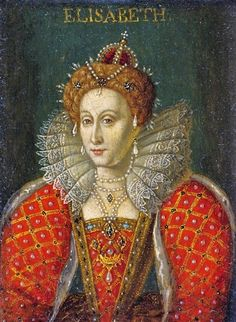 Late 1500s Queen Elizabeth I 1533-1603 Miniature Elisabeth