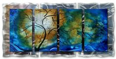 "AllMyWalls MAD00047 Brilliant Branches by AllMyWalls. $341.00. Hangs in 15 minutes!High Quality Welded and Bolted Construction.Color: Red, Orange, Blue, Green, Black, Silver.Material: Painted Steel.Panels: 5 Front.Artist: Megan Duncanson.Size: 23.5""H x 52""W x 2.5""D.. Save 23% Off!"