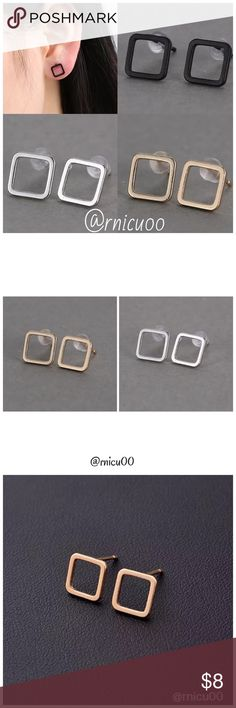 "✨1 Gold 2 Silver Left✨Modern Square Stud Earrings 2016's Top Modern Retro Trend! Simply Shaped, Square stud Earrings, Available in Gold & Silver, Very Lightweight; Perfect for Everyday Simplicity!👌  - Nickel & Lead Free - For pierced ears-Post Back  ➖Prices Firm, Bundle for Discount ➖""Trade"" & Lowball Offers will be ignored ➖Sales are Final, Please read Description & Ask Any Questions! Boutique Jewelry Earrings"