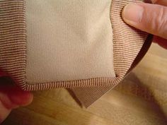 Fancy French Seams with link to Tote Bag Pattern