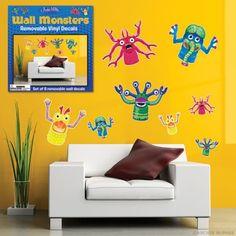 Wall Monsters Vinyl Decals