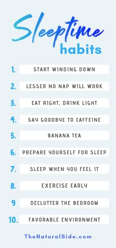 12 Simple Bedtime Habits worth Adopting for a Healthy Lifestyle. Sleeptime habits via TheNaturalSide.com #healthyhabits #sleep #bettersleep #habits
