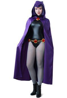 Teen Titans Raven Costume, Raven Halloween Costume, Teen Titans Costumes, Star Costume, Unique Halloween Costumes, Trendy Halloween, Skeleton Bodysuit, Bodysuit Costume, Costume