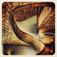 Rafael Guastavino Moreno - VAULTED STAIRCASE IN BAKER HALL AT CARNEGIE MELLON UNIVERSITY