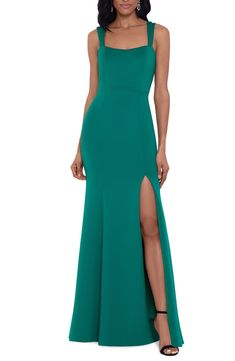 Double Strap Scuba Mermaid Gown Mermaid Skirt, Mermaid Gown, Cropped Wide Leg Jeans, Satin Cocktail Dress, Gowns Online, Dresses For Teens, Women's Dresses, Fashion Dresses, Nordstrom Dresses