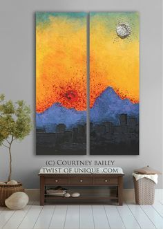 arizona sunset abstract artwork large original abstract painting abstract wall art blue
