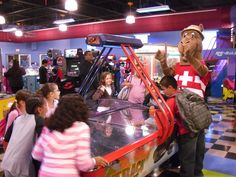 Sam having fun in the Arcade! #SaharaSams