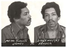 Jimi Hendrix, 1969 Toronto, ON Char. Jimi Hendrix, 1969 Toronto, ON Charge: drug possession Woodstock, Keith Richards, Beatles, Arte Pink Floyd, Yasmine Bleeth, Celebrity Mugshots, Photo Star, Picture Photo, Best Guitar Players