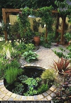 Check out this amazing backyard pond idea. #LandscapingandOutdoorSpaces