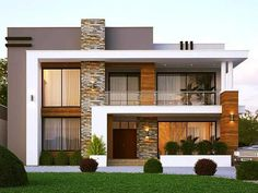 Best Modern House Design, Modern Exterior House Designs, Dream House Exterior, Exterior Design, Modern Design, 2 Storey House Design, Duplex House Design, House Outside Design, House Front Design