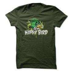 Happy Bird - #gift tags #appreciation gift. OBTAIN => https://www.sunfrog.com/Funny/Happy-Bird.html?id=60505
