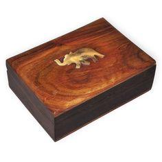 Dakshcraft Wooden Handcrafted Jewelry Box Brass Inlay Unique Elephant Design,raksha bandhan gifts