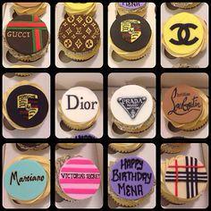 Designer cupcakes, Gucci, Louis Vuitton, Porsche, Channel, Dior, Prada, Louboutin, Marciano, Victoria Secret, Burberry www.facebook.com/littlebakerjosie