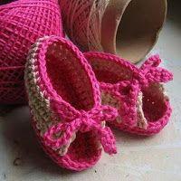 Crochê Bya Ferreira: Gráfico sandalinha para bebê