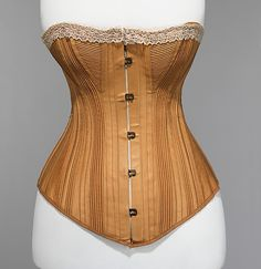 Corset Made Of Cotton, Silk, Metal And Bone - Made By BCN - American c.1880 - The Metropolitan Museum Of Art