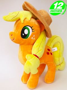 My Little Pony Applejack Plush  Who better to spend your days with than Applejack? These toys feature fantastic detailing including her hat, cutie mark and even her freckles! An ideal gift for any My Little Pony fan.  - Plush is approx 12 inches / 30 cm tall. - Brand new with tags. - Ages 6 & up.