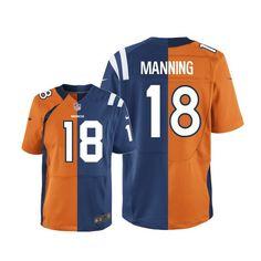 Peyton Manning Elite Nike Two Tone Peyton Manning Elite Jersey at Broncos  Shop. (Elite Nike Youth Peyton Manning Broncos Colts Two Tone Jersey) Denver  ... e07b93a2922af