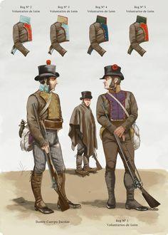 Voluntaeios de León Empire, Punic Wars, Disco Fashion, Battle Of Waterloo, Army Uniform, Napoleonic Wars, Military, Navy Uniforms, Military Uniforms