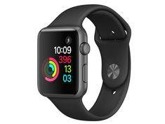 #apple  #watches  Series 1, 42 mm, Aluminium spacegrau, Sportarmband schwarz