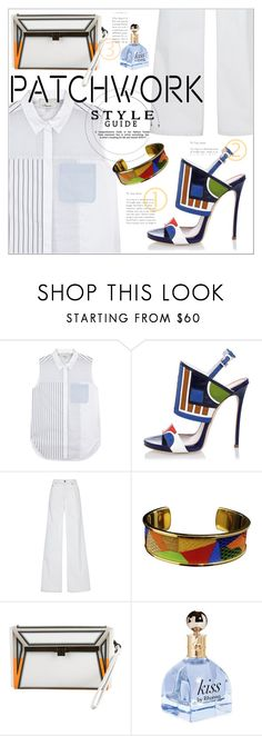 """""""Patchwork contest"""" by zogra ❤ liked on Polyvore featuring 3.1 Phillip Lim, Dsquared2, Oscar de la Renta, Hermès, Issey Miyake and patchwork"""
