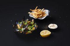 Blåskjell smaker utrolig godt og er i tillegg raskt å lage. Med hjemmelagde potetbåter og aïoli blir retten fort en ny favoritt! Aioli, Ethnic Recipes