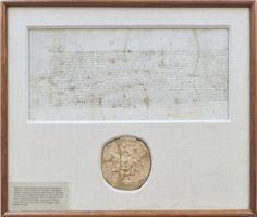 """The vellum document measures 15½"""" x 19½"""" the overall frame 21"""" x 25"""". It has been professionally silked and restored at vellum cuts, one passing through the """"z"""" of the bold signature of the Queen.  It is very rare to find a seal like this one in such good condition. An exceptionally rare historical document.  Further notes:  Sir Thomas Gresham was a merchant and financier who worked for King Edward VI of England and for Edward's half-sisters, Queens Mary I and Elizabeth I. He used part of…"""