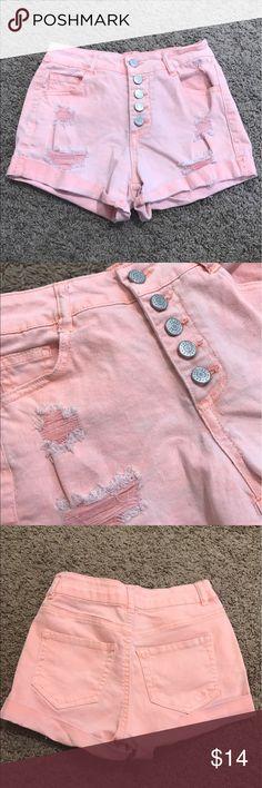 Refuge high waisted shorts Virtually new salmon orange/pink refuge Shorts