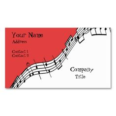 Musical Business Card. This great business card design is available for customization. All text style, colors, sizes can be modified to fit your needs. Just click the image to learn more!