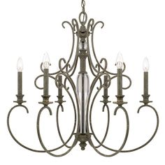 Capital Lighting Everleigh Collection 6-light French Greige Chandelier