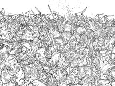Original and final wraparound cover art by Geof Darrow (with colors by Peter Doherty) from Conan the Cimmerian published by Dark Horse Comics, November Comic Book Artists, Comic Artist, Geof Darrow, Architecture Art Design, Comic Poster, Bristol Board, Conan The Barbarian, Cover Art, Character Design