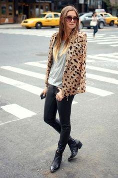 cheetah print Tibi blazer - Paige jeans