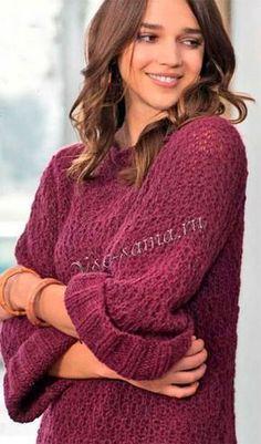 Пуловер с планками в резинку, фото