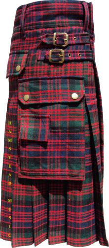 McDonald-Tartan-Active-Men-Scottish-Highland-Wears-Modern-Utility-Pocket-Kilts