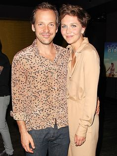 LOOK OF LOVE | Maggie Gyllenhaal and husband Peter Sarsgaard are a perfect match at the premiere of his new film Very Good Girls on Monday in New York City.