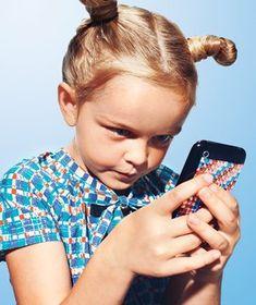 Girl playing with ipod