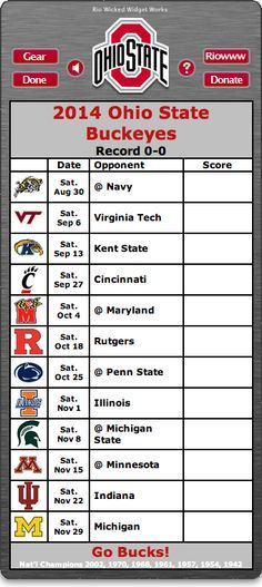 2014 OHIO STATE FOOTBALL SCHEDULE