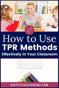 """""""Total Physical Response"""" or TPR methods are helpful in your classroom and foundational to your ESL or VIPKID students. Find 8 commands to use every day. Teach English To Kids, Teaching English Online, English Class, Teaching Strategies, Teaching Tips, Vip Kid, Education Degree, Education College, Vocabulary Activities"""