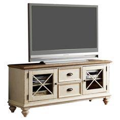 Woodbridge Home Designs Cottage Two Tone TV Stand   Wayfair
