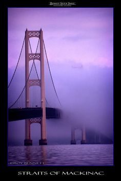 Mackinac Bridge by Pure Michigan, Michigan Travel, State Of Michigan, Detroit Michigan, Northern Michigan, Lake Michigan, Pictures Of Michigan, Mackinaw City, Mackinac Bridge, Great Lakes Region