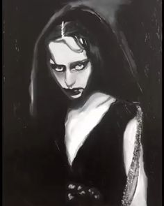 This mixed media art is an original art. Watercolor paint and acrylic paint have been used in this dark art. Name of this watercolor portrait is Twinsidious and it features a gothic woman. Jaco, Watercolor Portraits, Watercolor Paintings, Fröhliches Halloween, Beautiful Dark Art, Satanic Art, Horror Artwork, Dark Art Drawings, Creepy Pictures