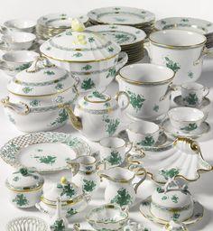 "An extensive Herend porcelain ""Chinese Bouquet"" part dinner and dessert services. Modern     sotheby's"